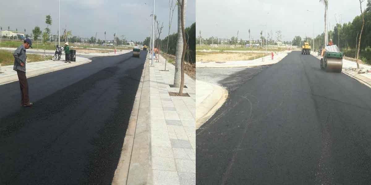 Thi công đường bên trong dự án Việt Úc Varea