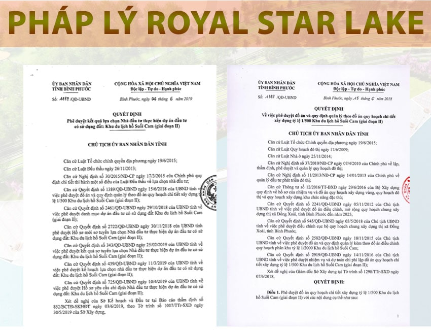 pháp lí dự án royal star lake