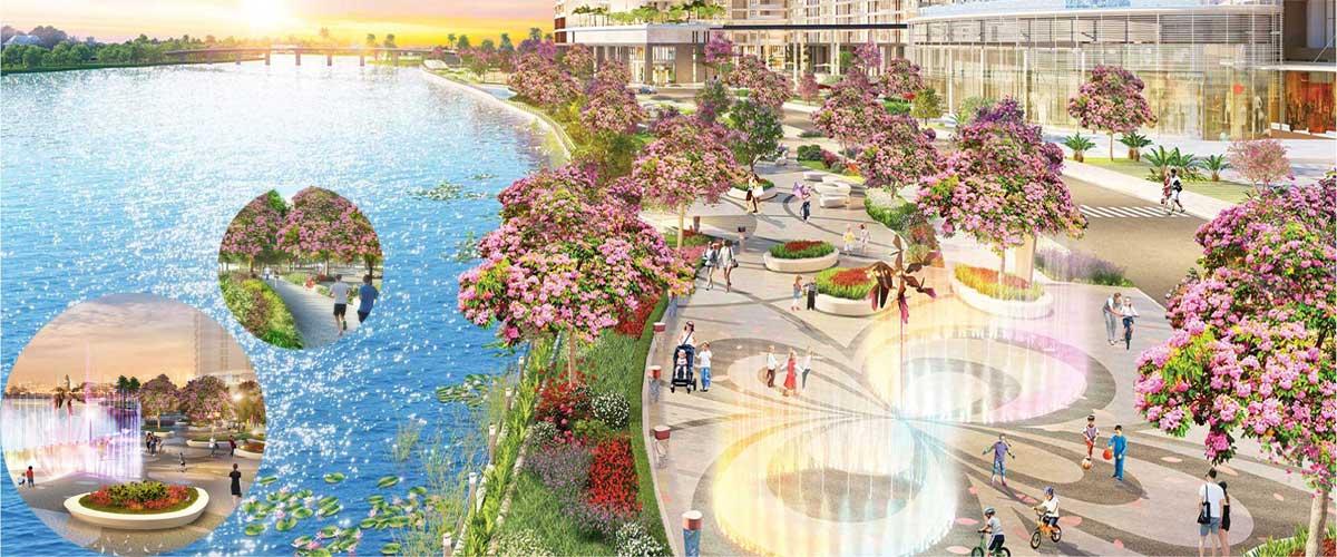 Công-viên-Sakura-Park-bên-trong-khu-đô-thị-Midtown