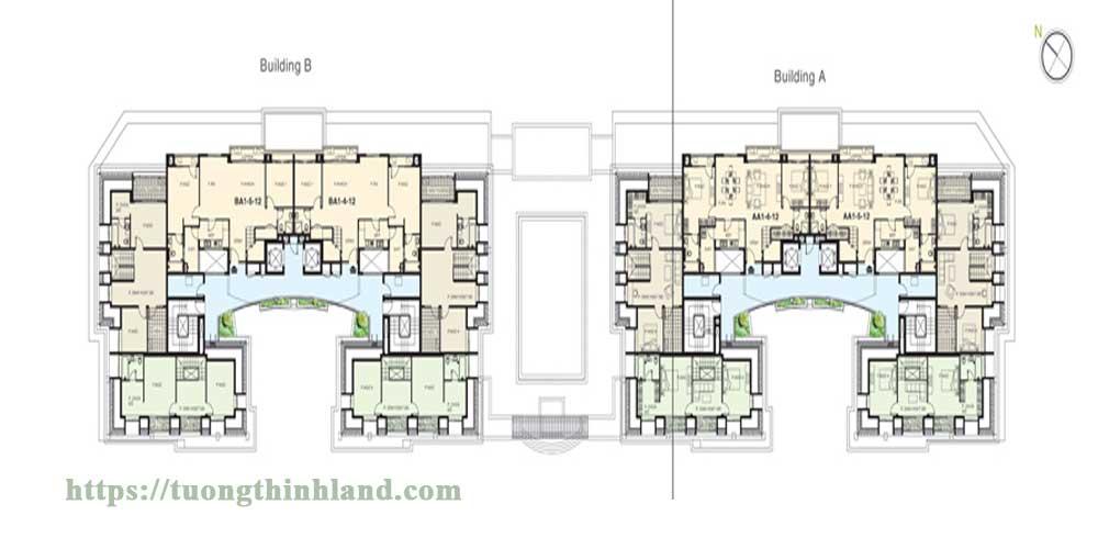 Mặt-bằng-tầng-12-căn-hộ-Cảnh-Viên-2-Phú-Mỹ-Hưng
