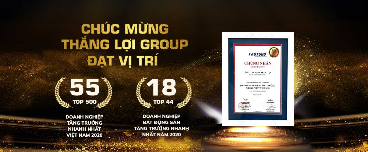 Giải thưởng chủ đầu tư Thắng Lợi Group 2020