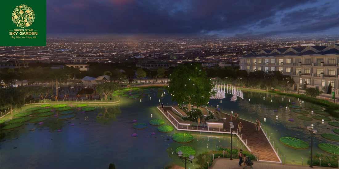 Hồ sinh thái cảnh quan bên trong dự án Green Star Sky Garden