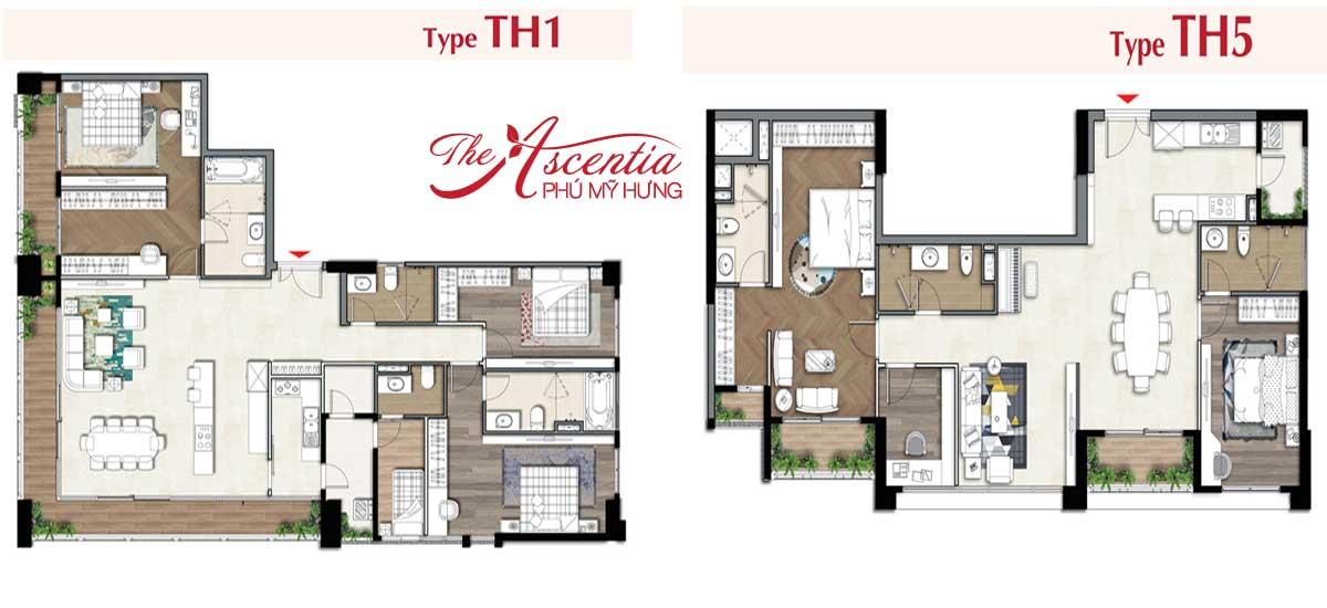 Layout thiết kế Penthouse Ascentia
