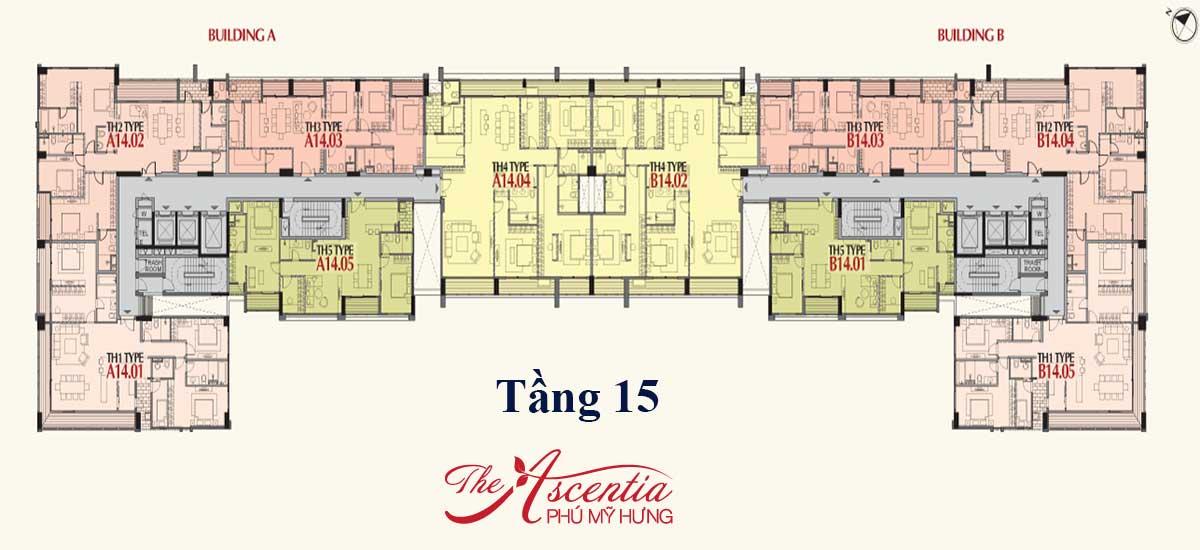 Mặt bằng Penthouse căn hộ Ascentia quận 7