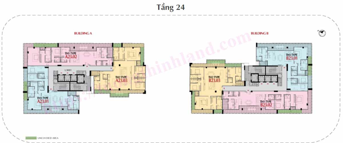 Mặt bằng Penthouse tầng 24 The Antonian Apartments