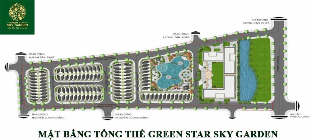 Mặt bằng tổng thể dự án Green Star của Hưng Lộc Phát