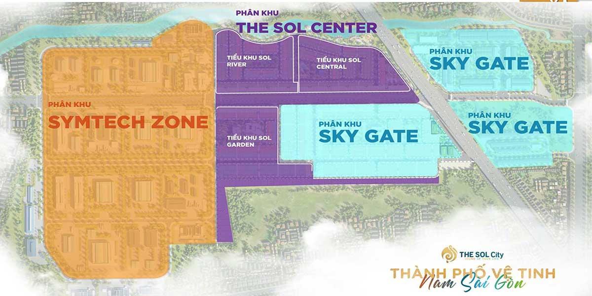 Phân khu dự án The Sol City