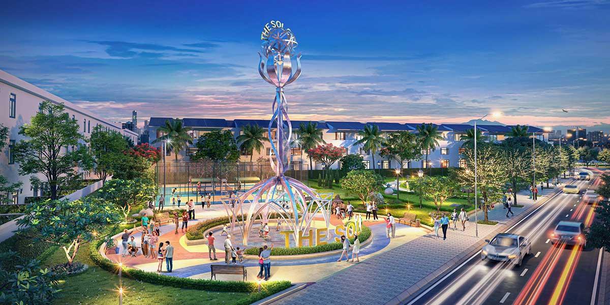 Tháp biểu tượng trung tâm Khu đô thị Sol City