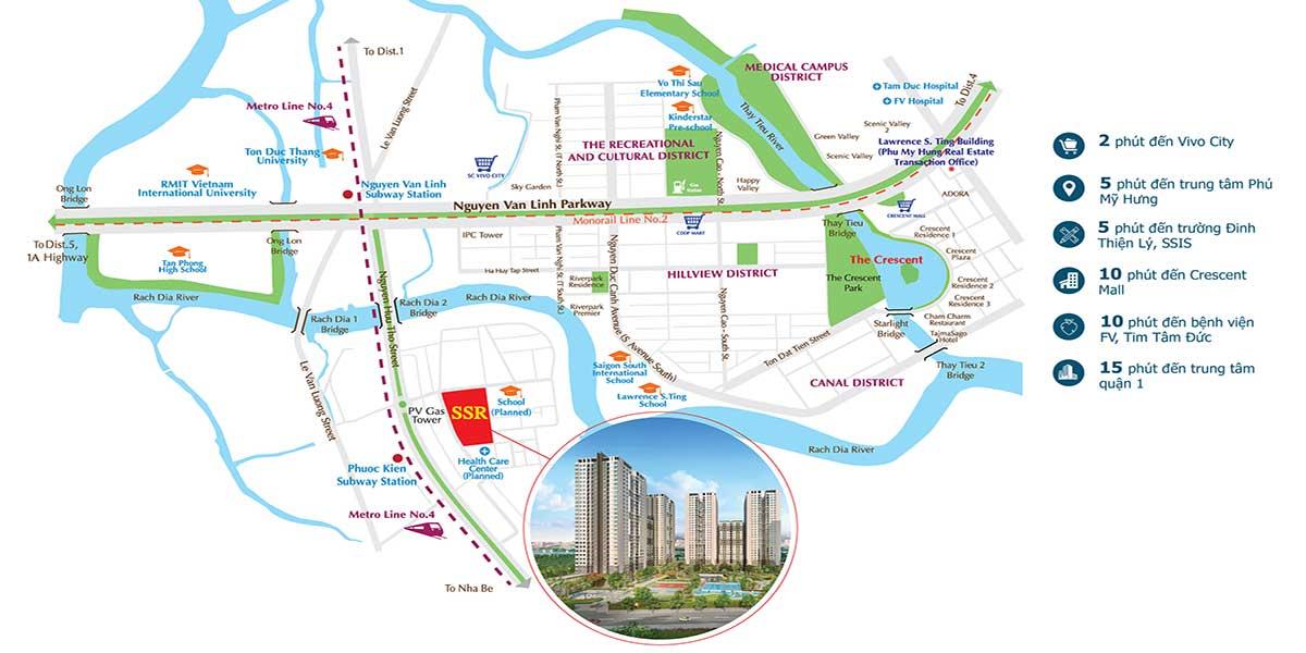 Vị trí chung cư Sài Gòn South quận 7