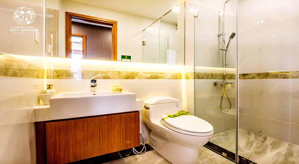 Thiết kế nhà vệ sinh căn hộ chung cư Green Star