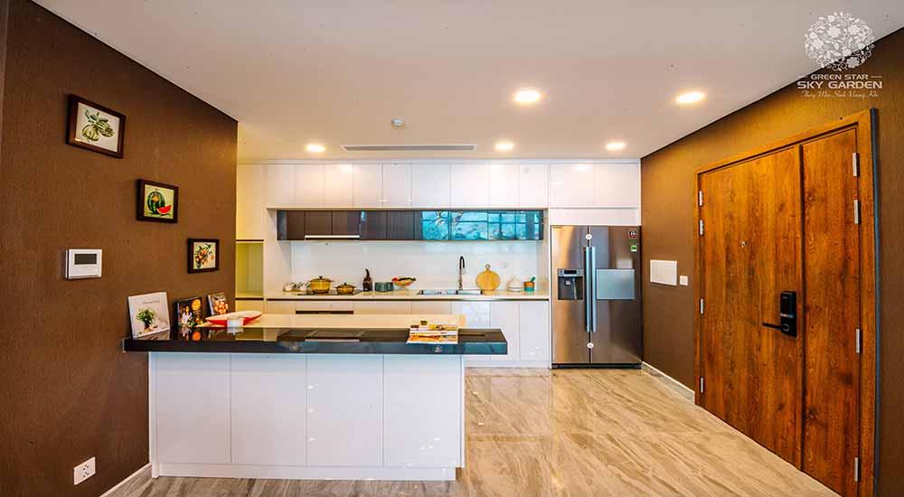 Thiết kế phòng bếp căn hộ Green Star