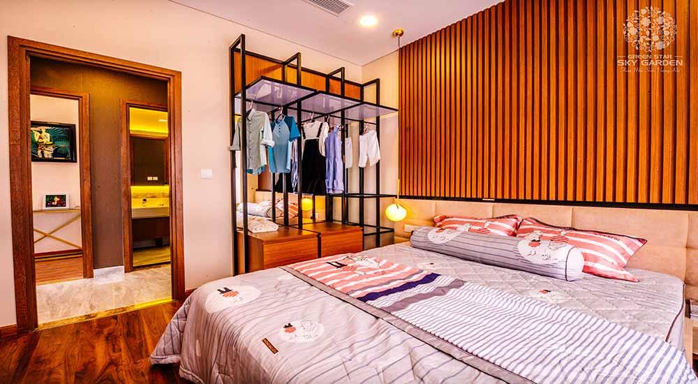 Thiết kế phòng ngủ căn hộ Green Star quận 7