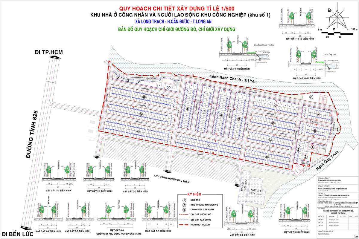 Quy hoạch 1/500 đất nền KCN Cầu Tràm