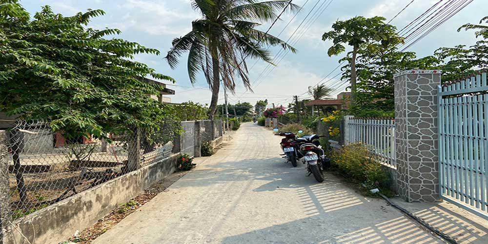Đường trước nhà đất nền xã Phước Tân Hưng Châu Thành Long An