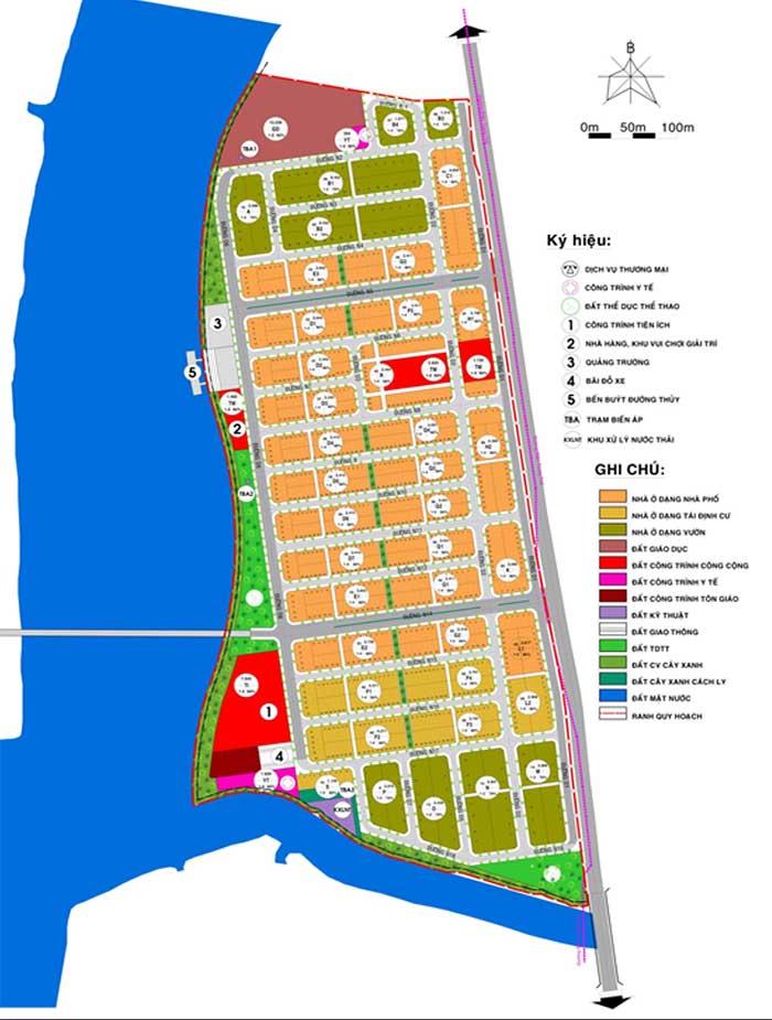Bản đồ quy hoạch sử dụng đất Khu dân cư An Phước Sài Gòn