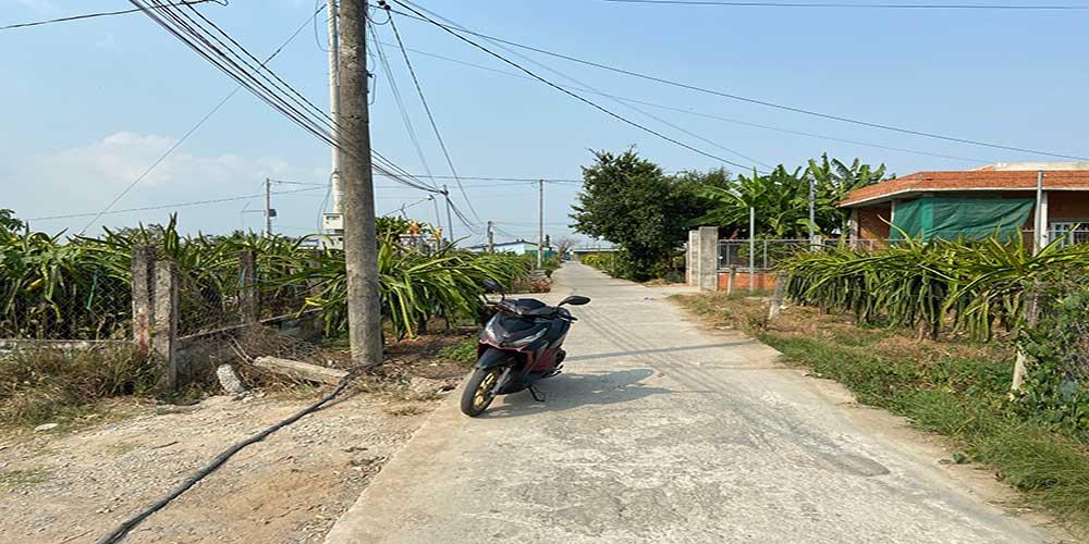 Bán đất thổ cư sổ hồng riêng xã Thanh Phú Long huyện Châu Thành Long An, 100m2 giá 350 triệu