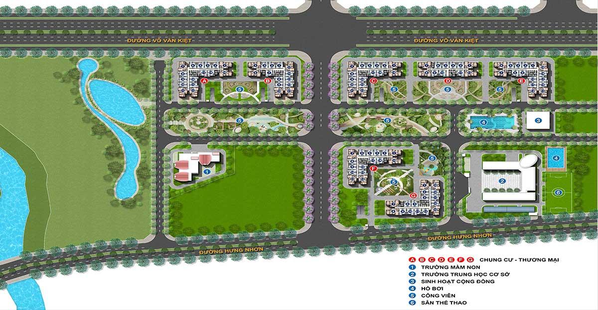 Mặt bằng tổng thể dự án City Gate 5