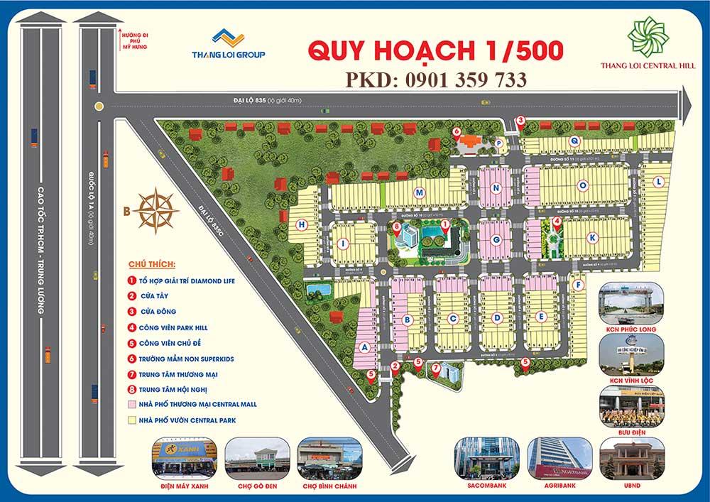 Quy hoạch 1/500 dự án Thắng Lợi Central Hill