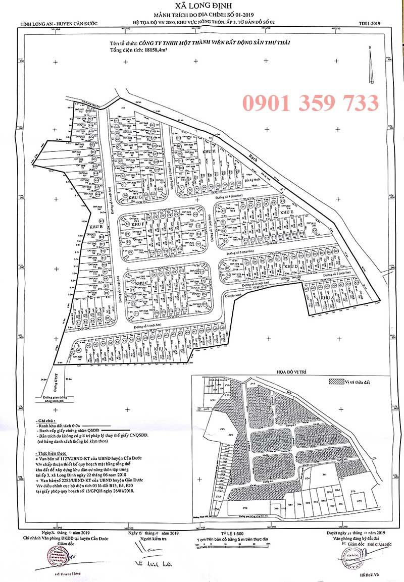 Quy hoạch 1/500 dự án Thuận Đạo Residence Long An