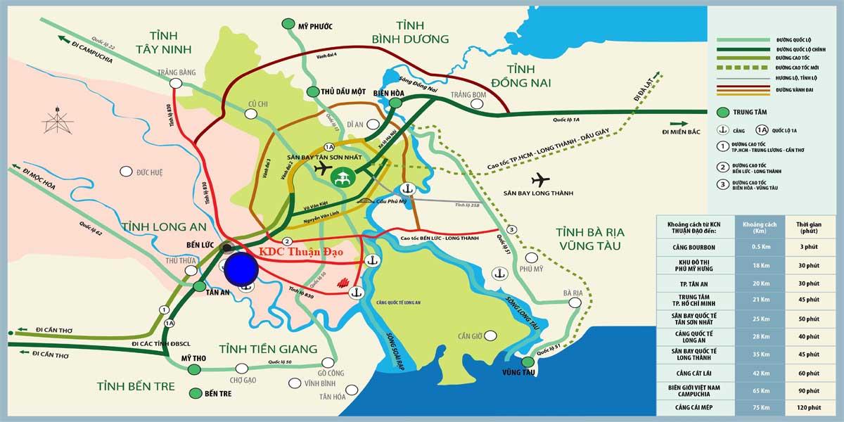 Vị trí KDC Thuận Đạo