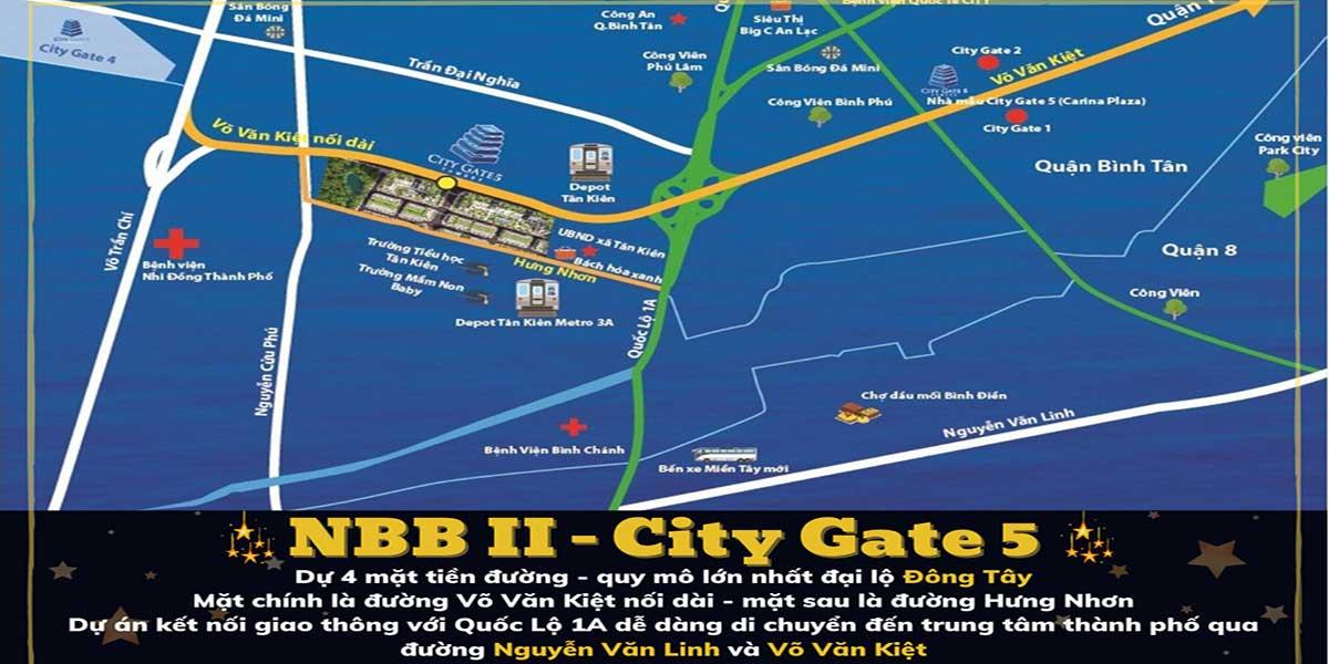 Vị trí dự án City Gate 5 Bình Chánh