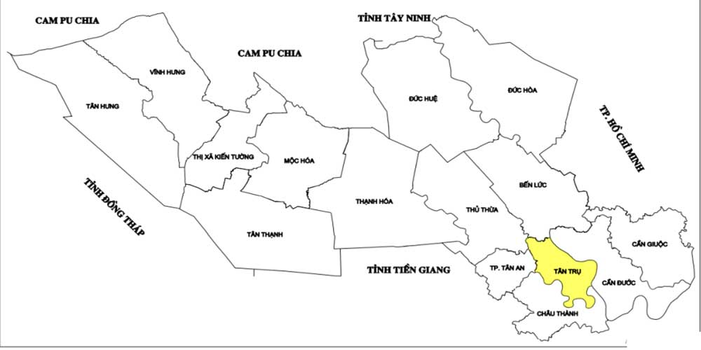 Quy hoạch huyện Tân Trụ