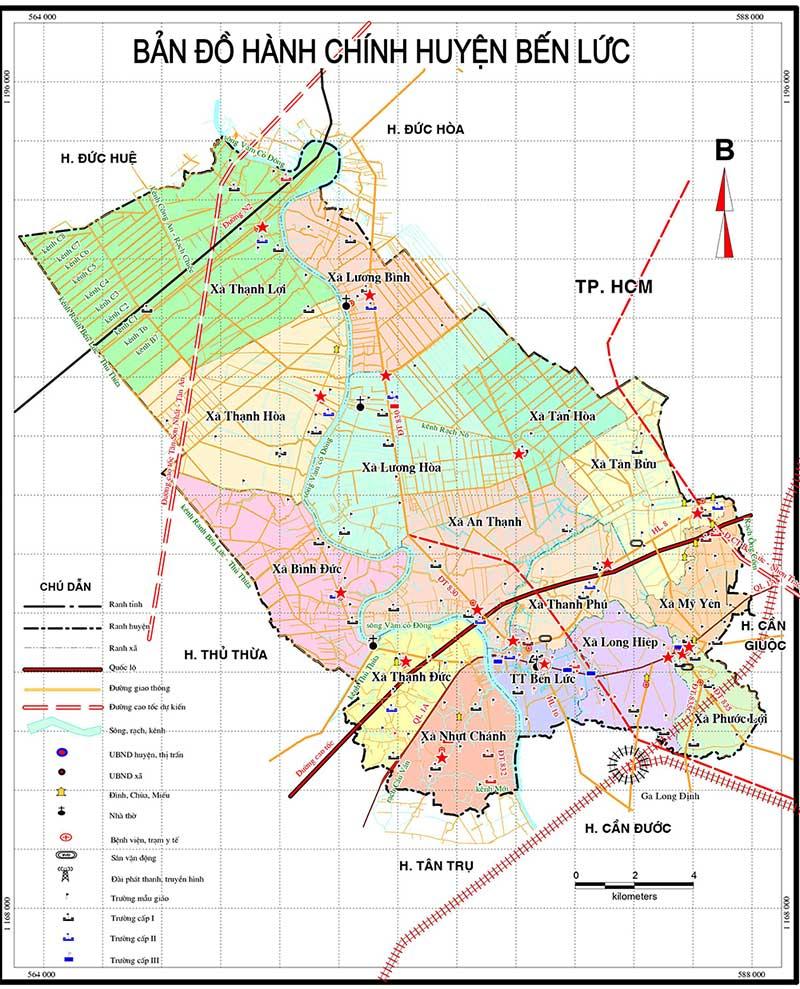 Quy hoạch huyện Bến Lức năm 2021 tầm nhìn đến năm 2030