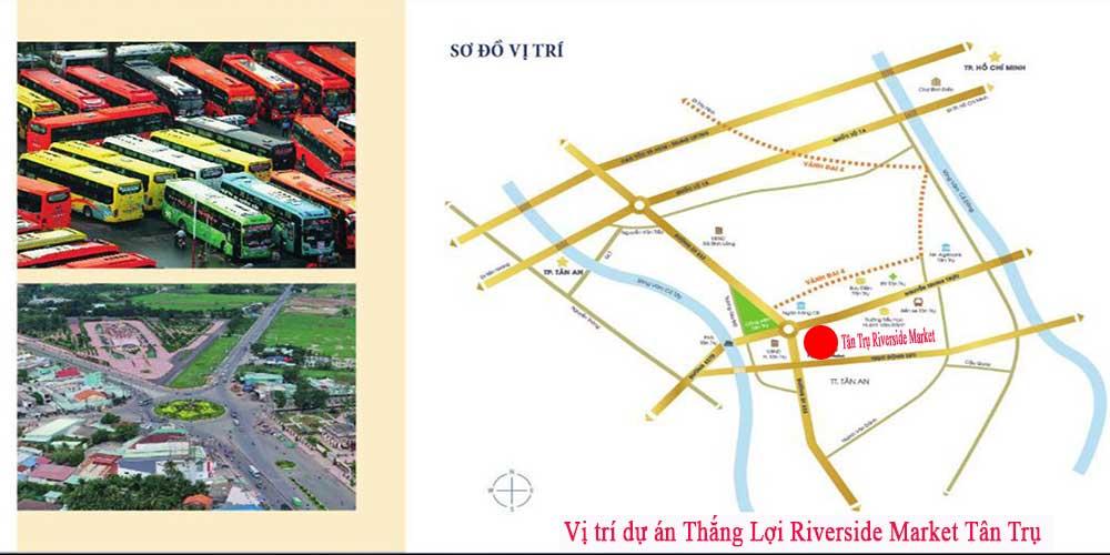 Vị trí dự án Thắng Lợi Riverside Market Tân Trụ
