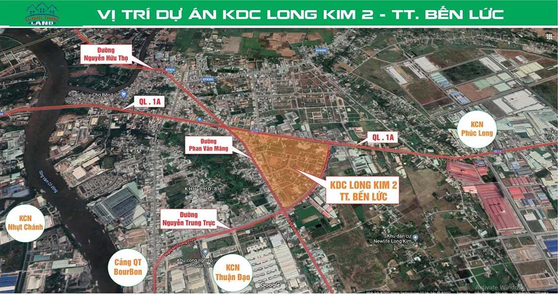 Vị trí Khu dân cư Long Kim 2 Bến Lức Long An
