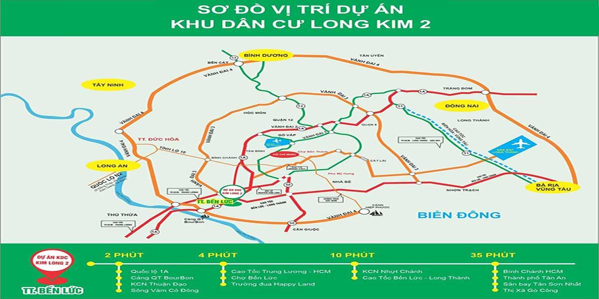 Vị trí dự án Khu dân cư Long Kim II Long An