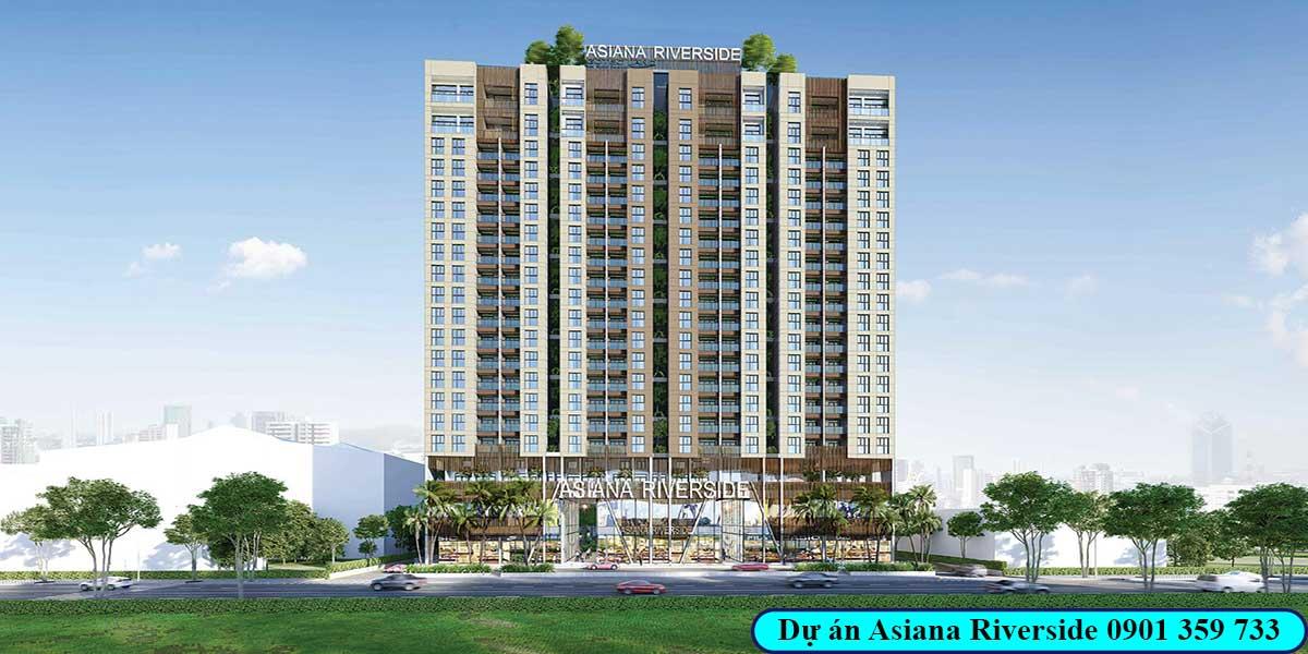Phối cảnh dự án Asiana Riverside quận 7