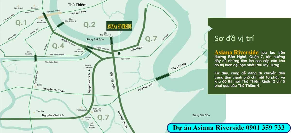 Vị trí dự án Asiana Riverside quận 7