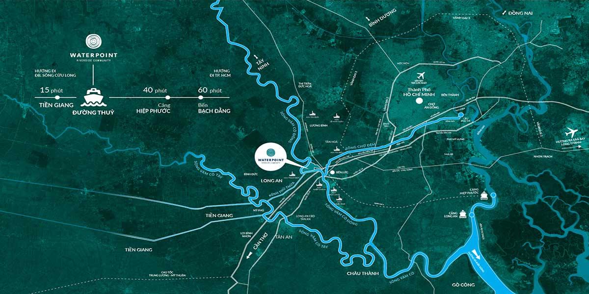 Vị-trí-dự án Ehome Waterpoint khi di-chuyển-đường-thủy